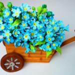 Цветы из мастики – нежные незабудки